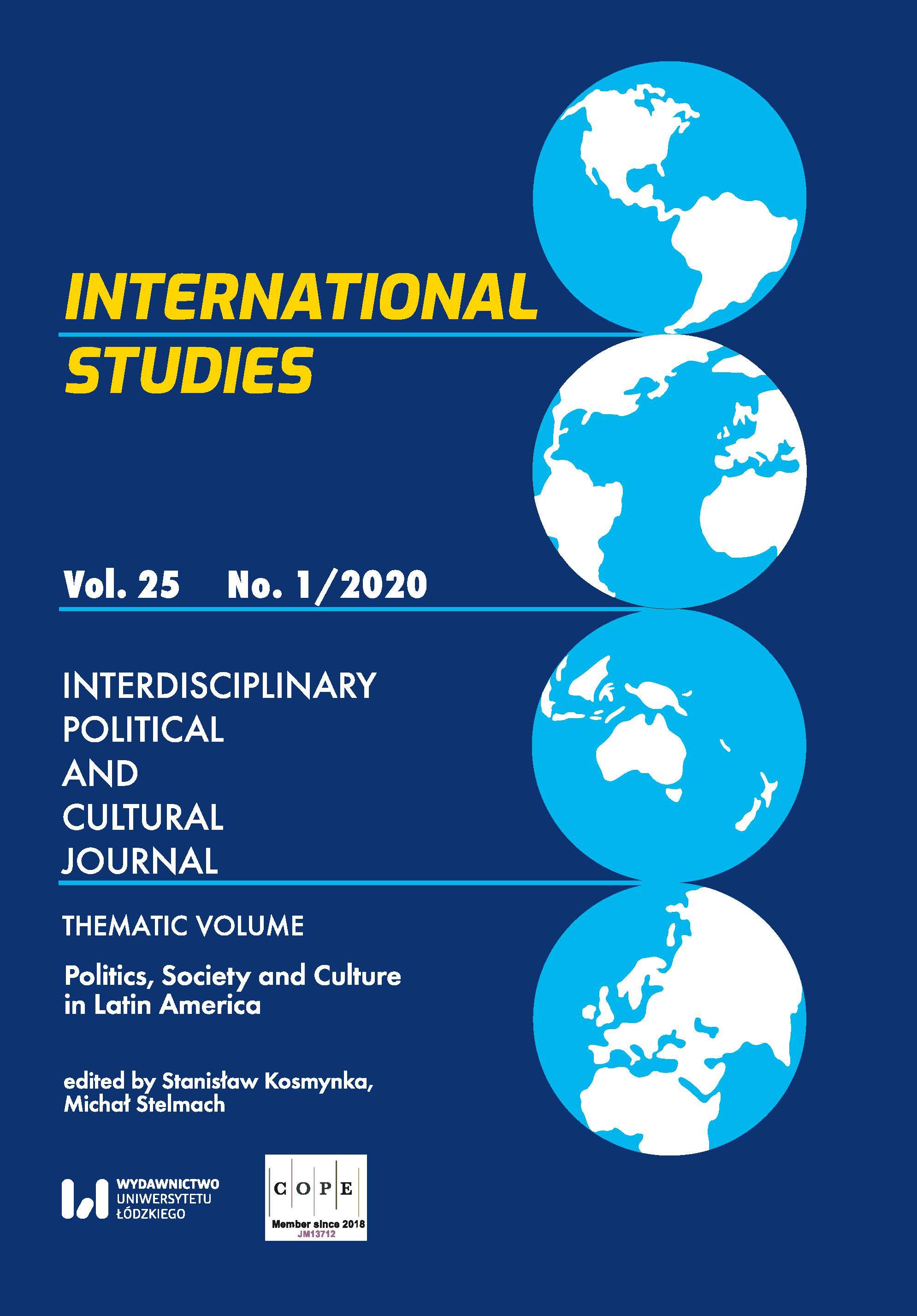 View Vol. 25 No. 1 (2020): Politics, Society and Culture in Latin America