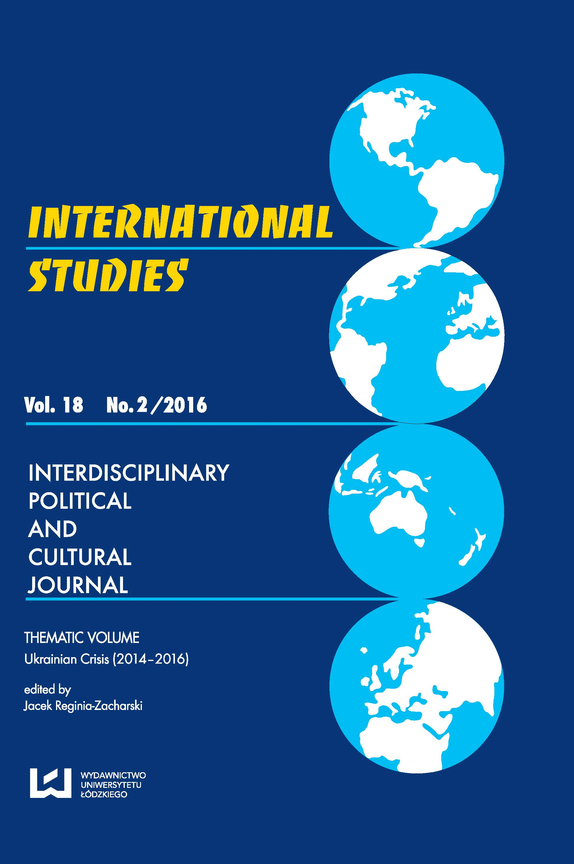 Vol 18 No 2 (2016) Cover