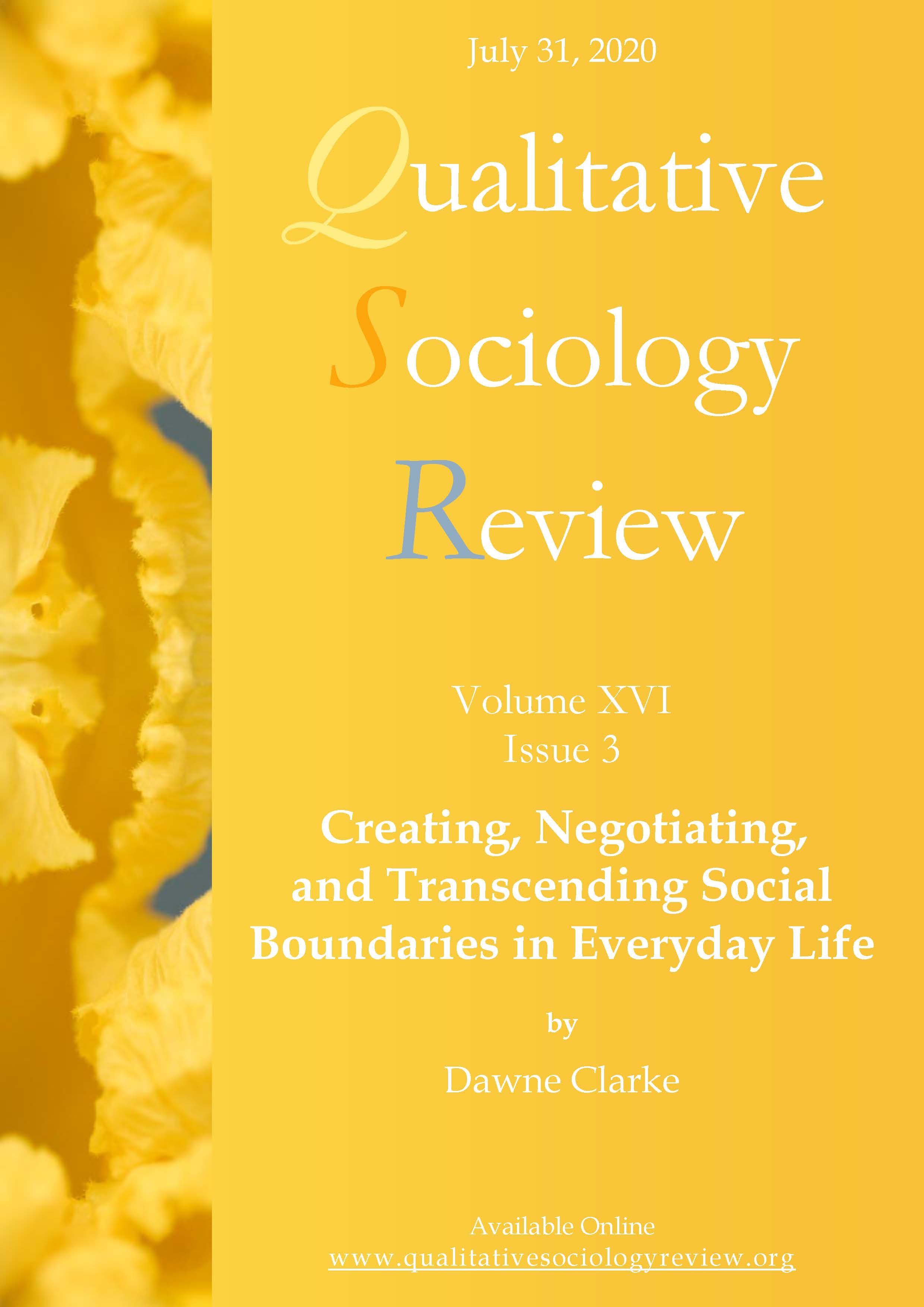 View Vol. 16 No. 3 (2020): Creating, Negotiating, and Transcending Social Boundaries in Everyday Life