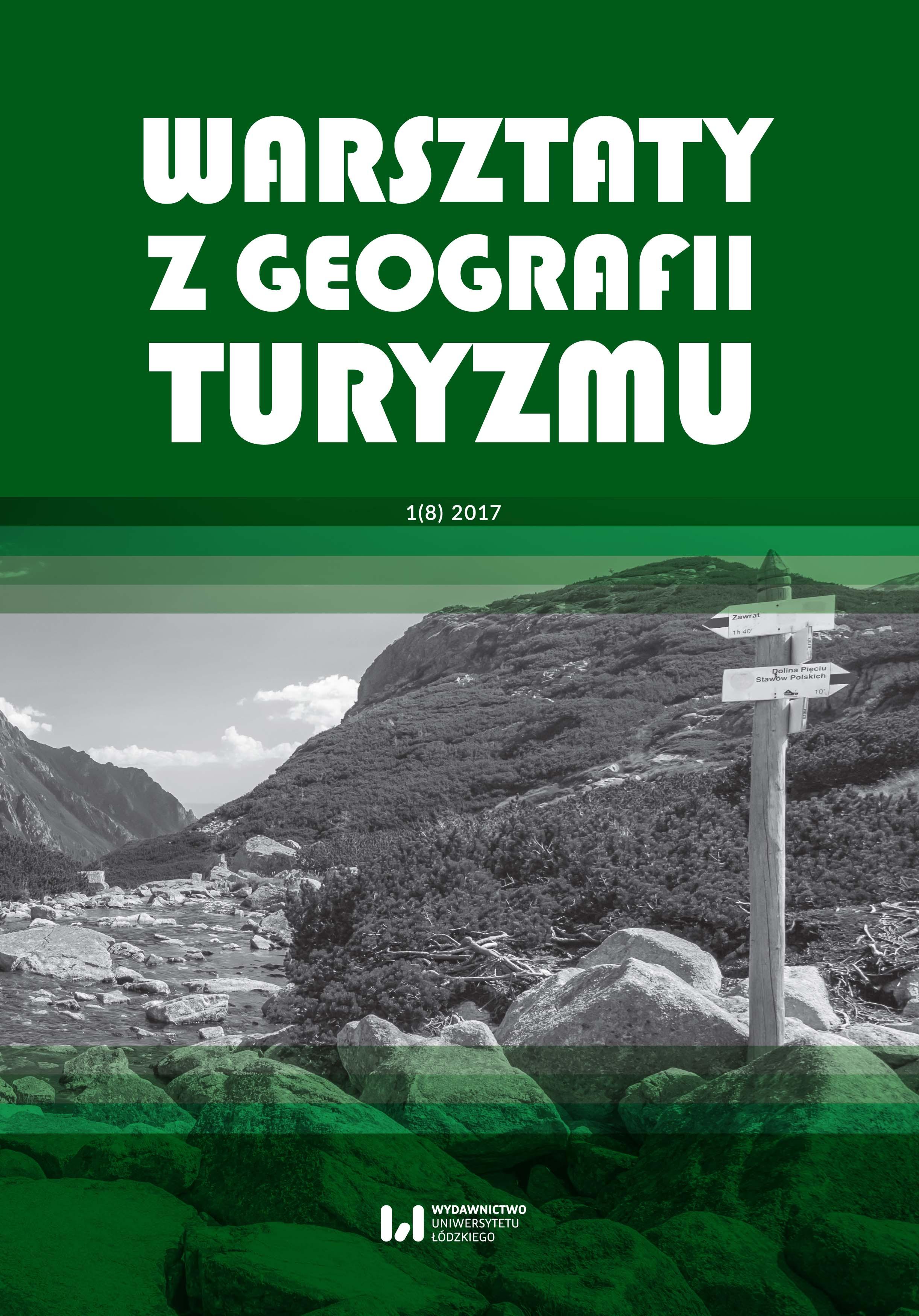 Wyświetl Tom 8 Nr 1 (2017): Warsztaty z Geografii Turyzmu