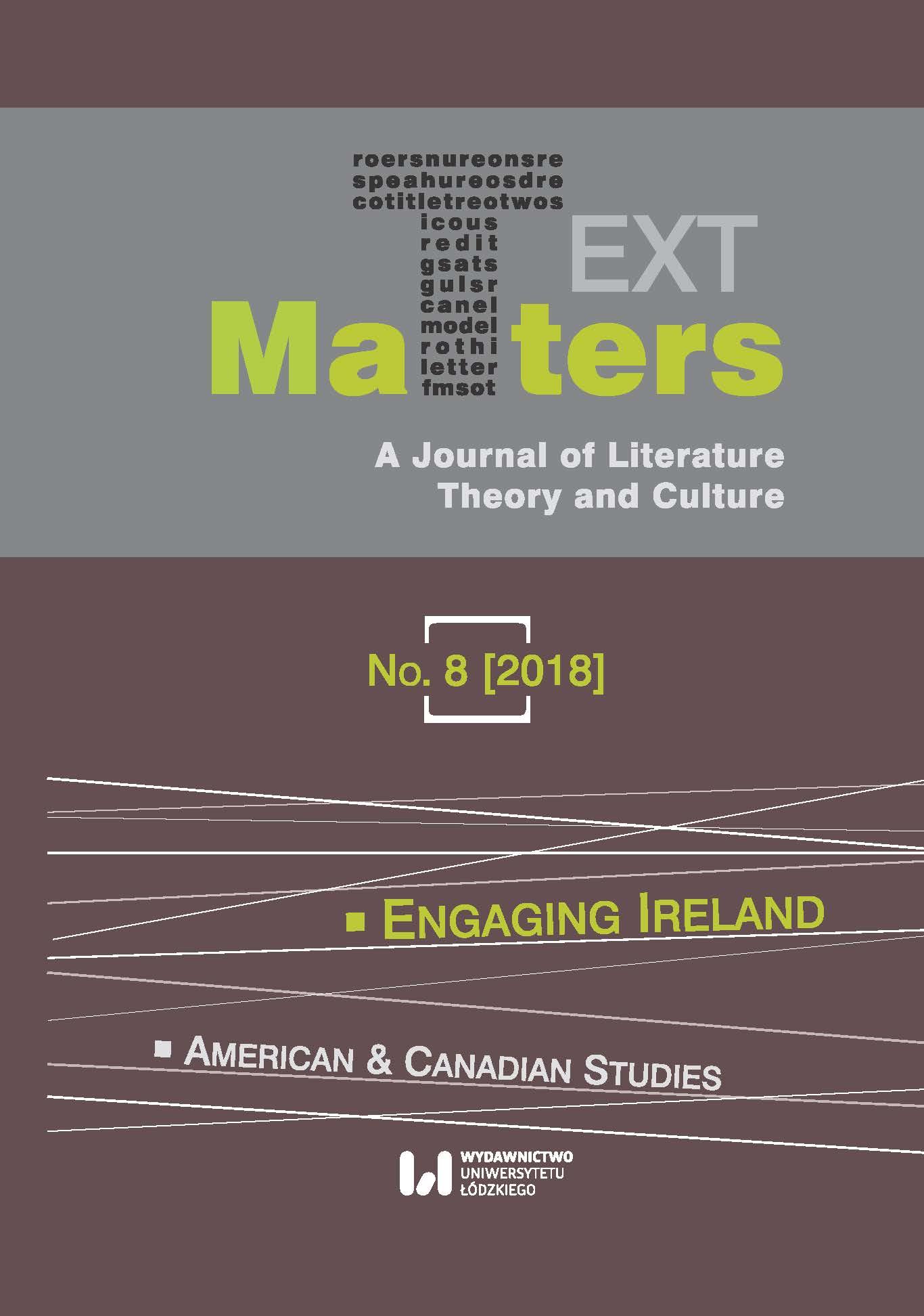View No. 8 (2018): Engaging Ireland / American & Canadian Studies