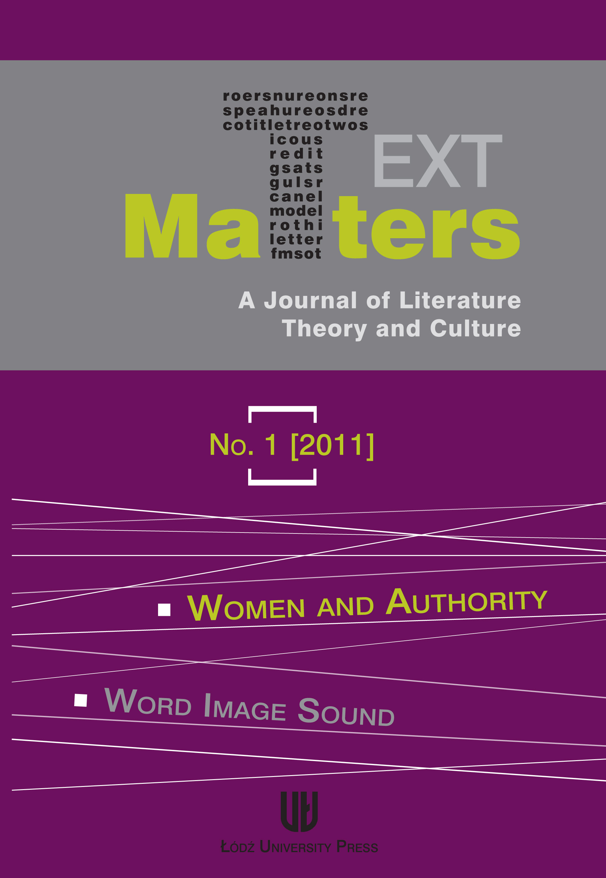 View No. 1 (2011): Women and Authority / Word Image Sound