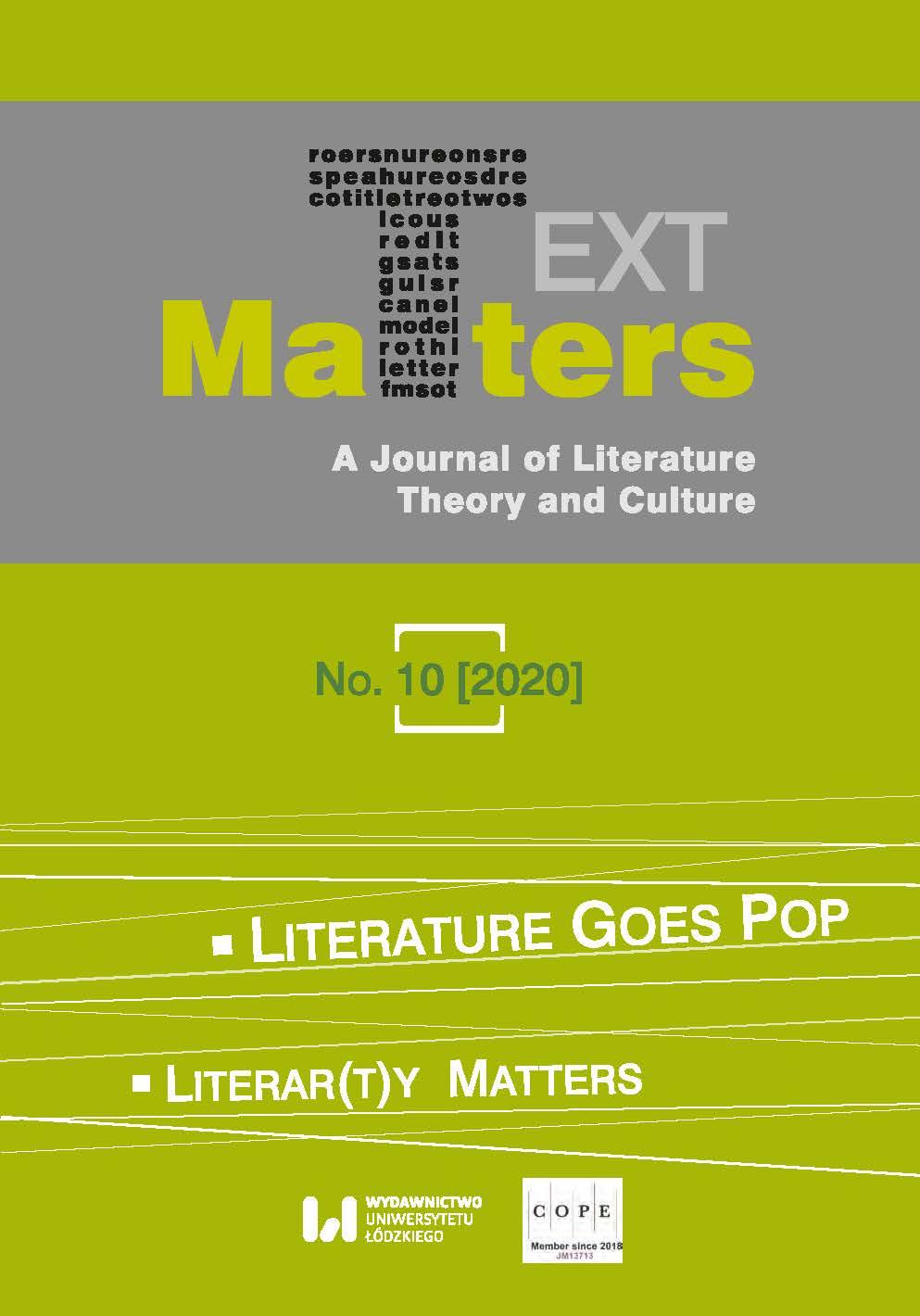 View No. 10 (2020): Literature Goes Pop / Literar(t)y Matters