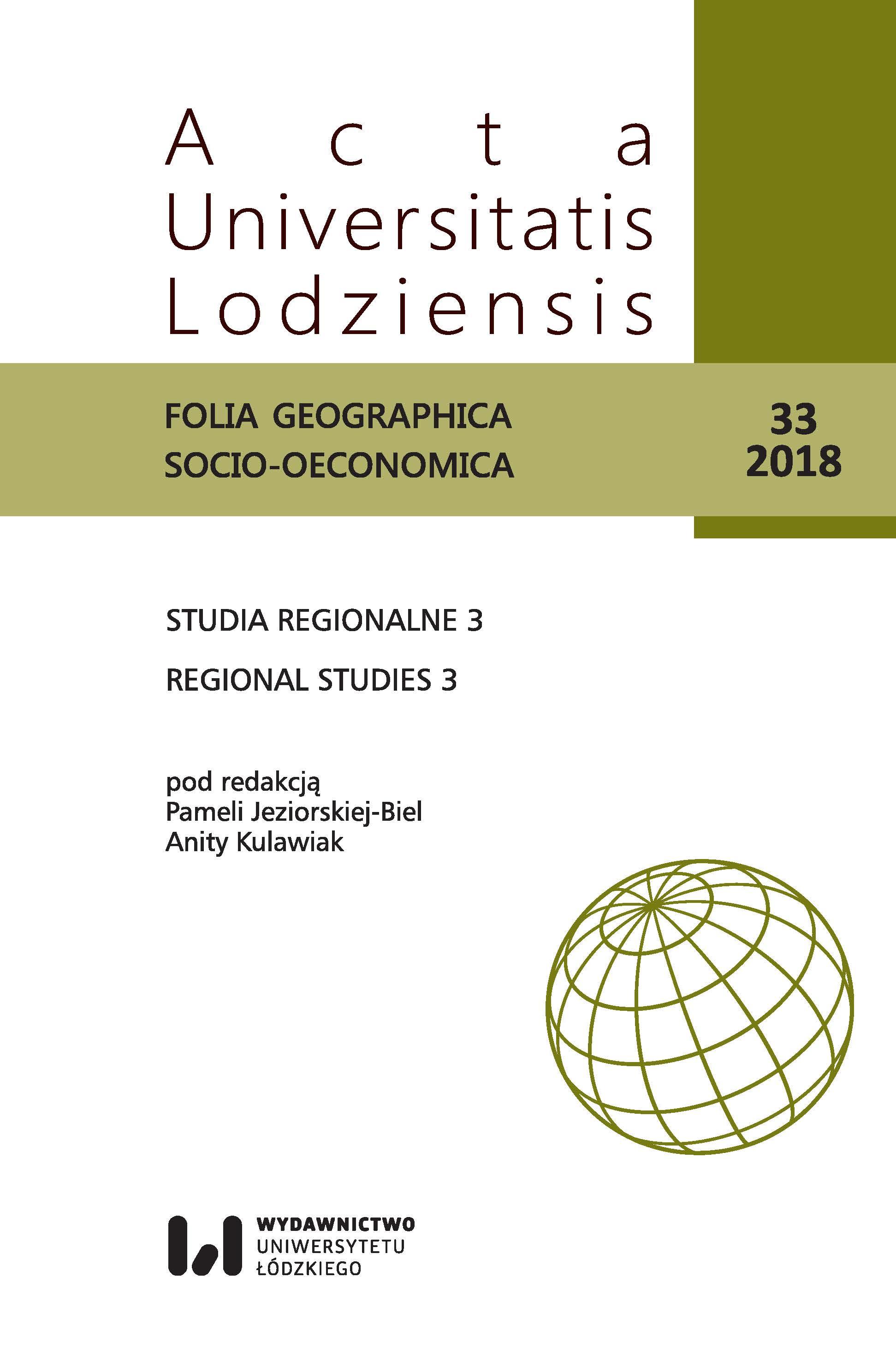 Wyświetl Nr 33 (2018): Studia Regionalne 3