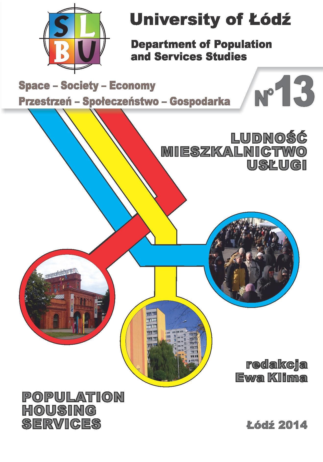 Wyświetl Nr 13 (2014): Ludność, mieszkalnictwo, usługi