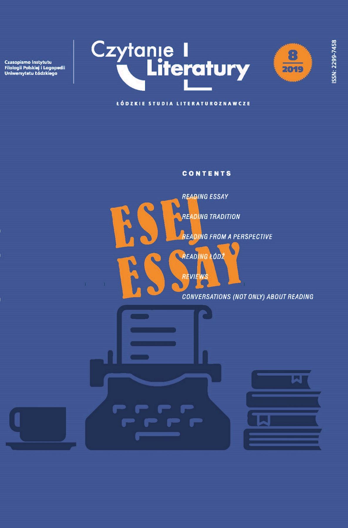 Wyświetl Nr 8 (2019): Esej / Essay
