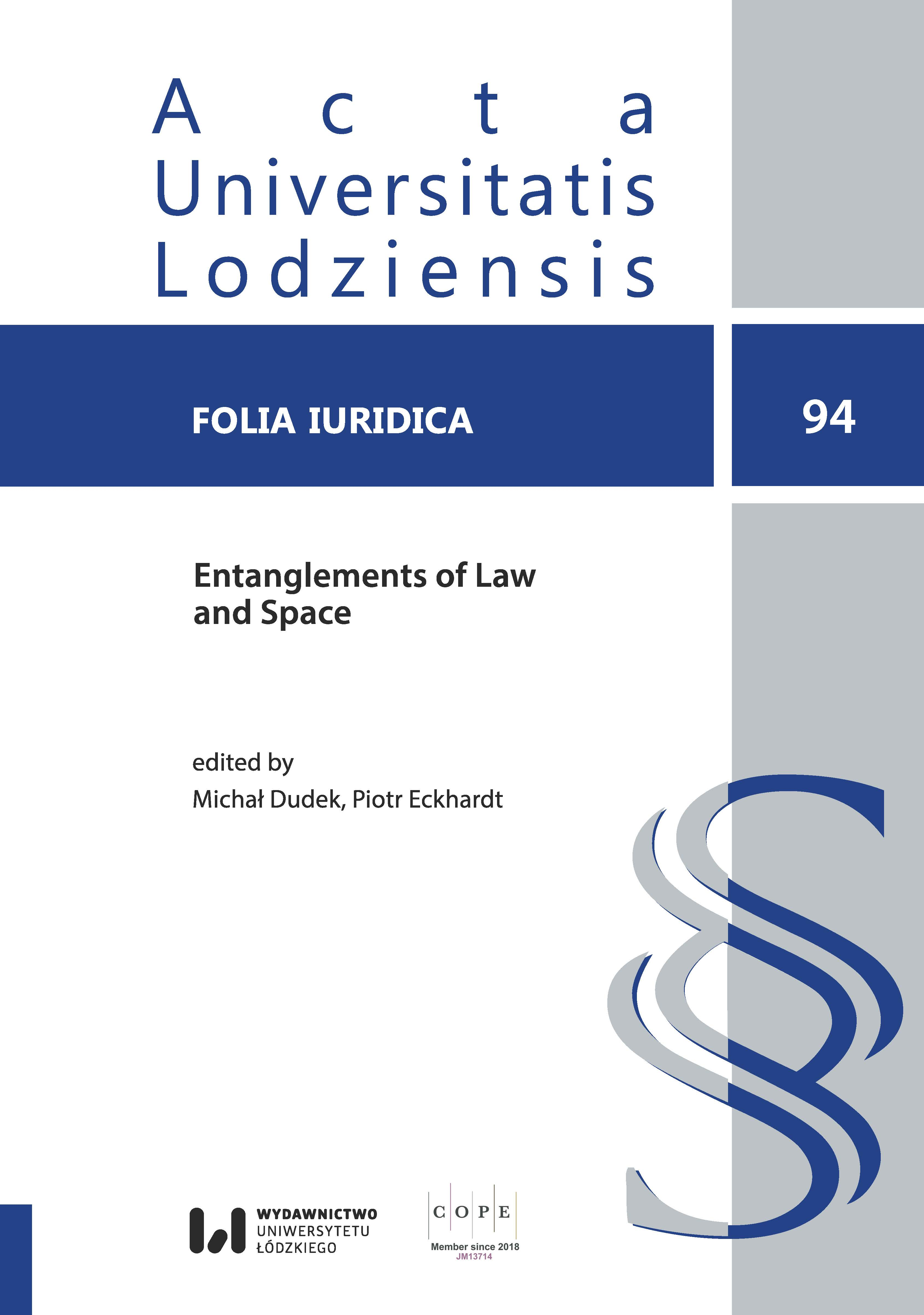 View Vol. 94 (2021): Entanglements of Law and Space